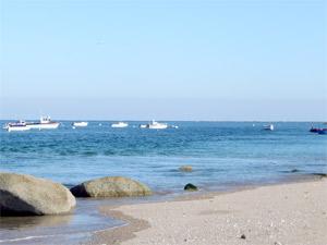Location Cotentin mer-gîte de bord de mer-Bateau sur la plage
